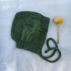 Cosy Baby Bonnet - Vine