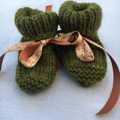 Baby booties - Vine