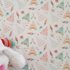 Fitted Cot Sheet - Cotton - Feather's TeePee's and Flower's