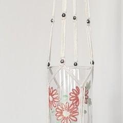 Delicate Glass Macrame Hanger