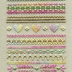 Spring Hearts Sampler by Stacey Tippin for D-D Designs