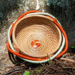 "Handwoven Pine Needle Spiritual Healing Basket ~ ""Outback"""