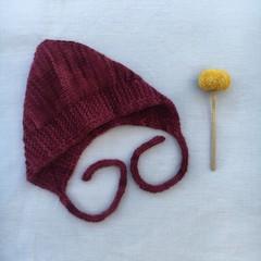 Cosy Baby Bonnet - Gooseberry