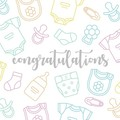 Congratulations Bright Expecting New Baby Unisex Card