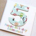 Any Age Birthday card | Personalised | Children Kids Balloons 1 2 3 4 5 6 7 8 9