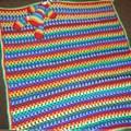 Rainbow Baby Blanket &  Rainbow Teddy Bear