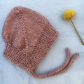 Cosy Baby Bonnet- Faded Rose