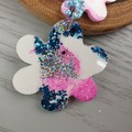 Blooming Sparkle Mermaid Flower Drop Resin - Stud Dangle earrings