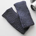 Blue Gray Wool Tube Mitts For Teenagers or Adults