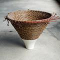 "Handwoven Pine Needle Spiritual Healing Basket ~ ""Clay and Fibre No.1"""