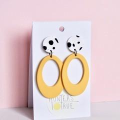 Animal Top Stud Hoop Earrings