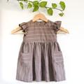 Size 2 Eco Chocolate Mint Toddler Flutter Dress