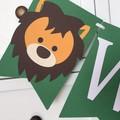 Safari animal banner. Jungle party, Cake Smash Photo Prop, First Birthday party.