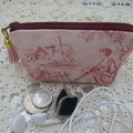 Credit Card Pouch Coin Purse - Women's Girls Pink Toille