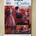 Simplicity Crafts 7314, lamb doll and draft stopper with clothes pattern, uncut