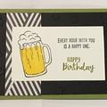 Male Birthday Handmade Card - Beer