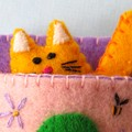 DIGITAL SEWING PDF PATTERN – Cat in a Sleeping Bag – Miniature felt kitten