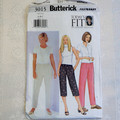 "Butterick 3015. Ladies petite pants pattern, Fits waist 26 1/2"" - 30 1/2"""