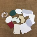 Assorted Gift Card Shapes - 12 cards and ties.