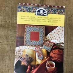 Leaflet - DMC Nativity scene and Floral cross stitchcharts