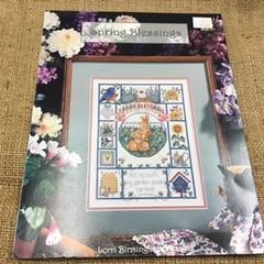 Cross Stitch Leaflet - Spring Blessings by Lorri Birmingham Designs