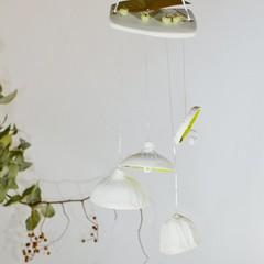 Australian bush gum nut Wind Chimes|Handmade Porcelain wind chimes