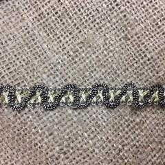 Black and Gold Trim/Braid