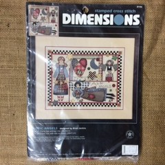 Dimensions Stamped Cross Stitch Kit called Rustic Angels