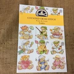 Leaflet - DMC Counted Cross Stitch - Teddies