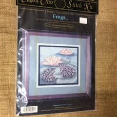 Cross Stitch Kit - Frogs