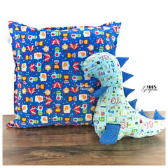 Pillow and Dinosaur Set