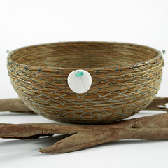 PERSONALISED Handwoven Pine Needle Spiritual Healing Basket  (Med ~ LargeSimple)
