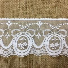 Wide White Lace 9cm