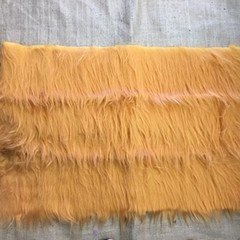 Synthetic Fur for toy/bear making - long shaggy orange coloured