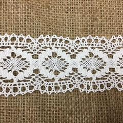 Wide Cream Cotton Lace 5cm