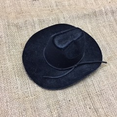 Black Flocked Cowboy Hat