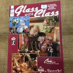 Leaflet - Glass with Class by DecoArt