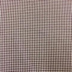 Cotton Fabric - small check burgundy