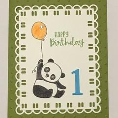 Age Birthday Handmade Card  - 1st, 2nd, 3rd, 4th