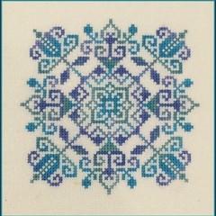 Ocean Blue Mandela by JoAnne Mason for D-D Designs