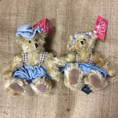 Small Russ Bears in Denim Outfits - Winifred and Jimbles