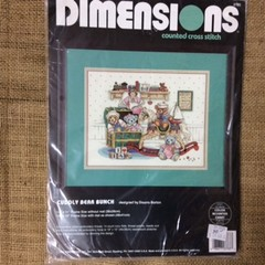 Dimensions Counted Cross Stitch Kit - Cuddly Bear Bunch