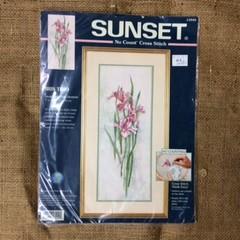 Sunset No Count Cross Stitch Kit - Iris Trio