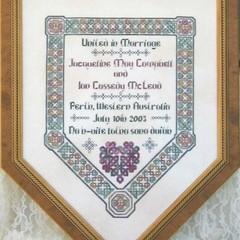 Celtic Wedding Sampler by JoAnne Mason for D-D Designs