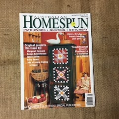 Magazine - Back Issue of Australian Homespun - patchwork, quilting, stitchery