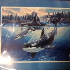Dimensions Needlepoint Kit -Orca Cove