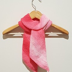 Fairy floss pink scarf