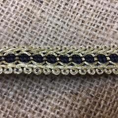 Gold/Black or Silver/Black Trim/Braid