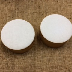 Round Satin Boxes ready for Embroidery or Painting
