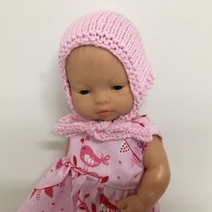 Miniland Dolls Knitted Bonnet to fit 32cm Dolls